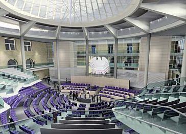 Il reichstag a berlino la ricostruzione di norman foster for Camera dei deputati in diretta
