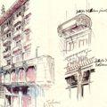Disegno di Max Fabiani