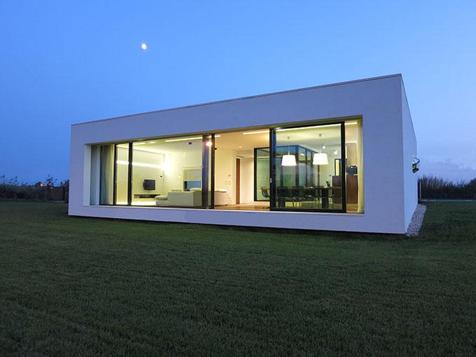 Villa cd passive house for Aprire piani casa concetto