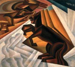 Gara ippica tra le nubi, 1924