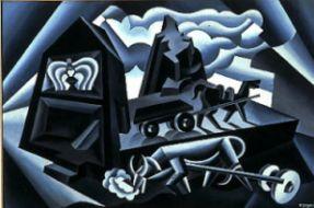 Alba e tramonto sulle Alpi (Aratura), 1927