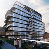 520 West 28th Street, New York,  Stati Uniti, progetto 2015, Render © Zaha Hadid Architects