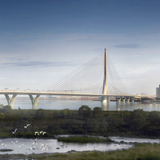 Danjiang Bridge, Taipei, Taiwan, 2015 - in costruzione, render by © VisualArch