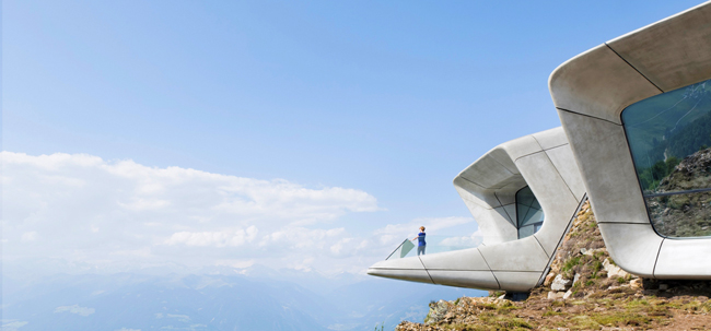 Messner Mountain Museum Corones di Zaha Hadid Architects