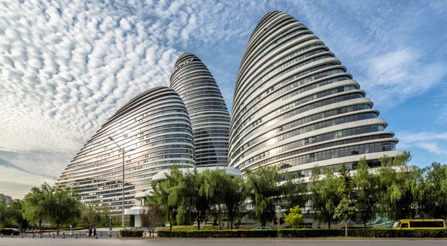 Wangjing Soho di Zaha Hadid Architects