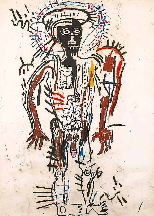 Jean-Michel Basquiat, Black Man, 1982. Matita su carta, 108 x 76,5 cm