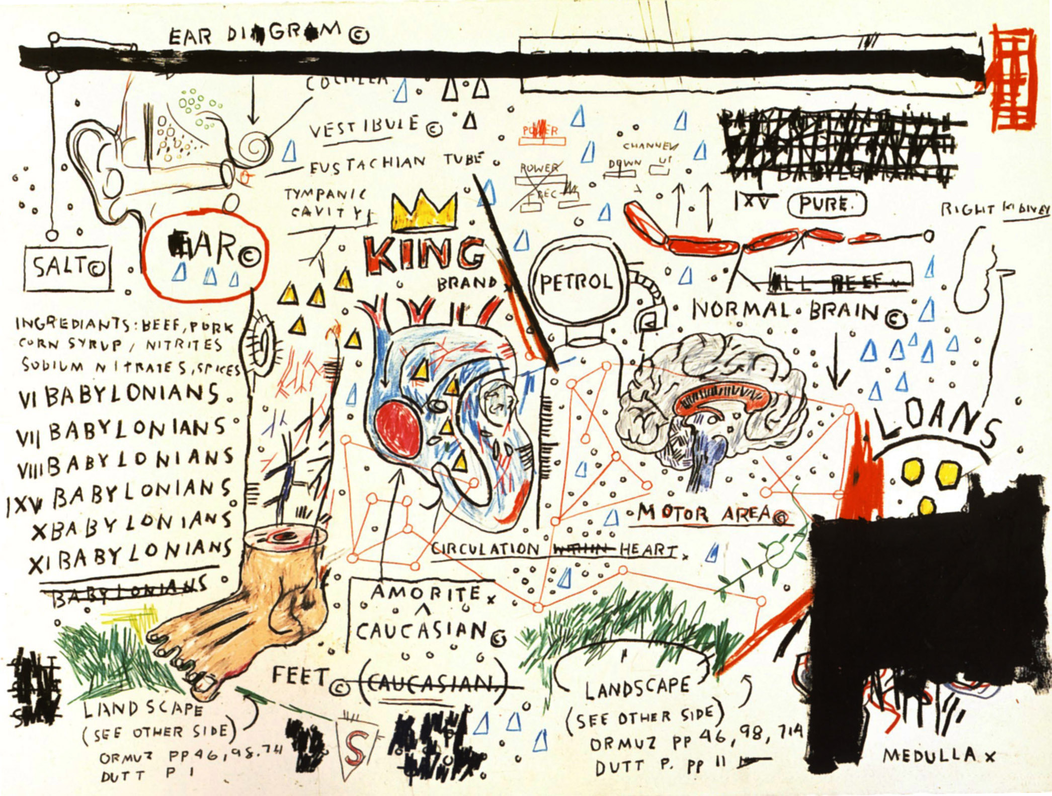 Jean-Michel Basquiat, King Brand