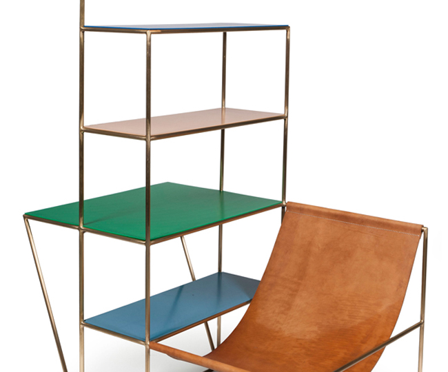 "Muller Van Severen, ""Installation"", 2012 - Leather, brass, propylene - © Musée des Arts décoratifs, Paris, Jean Tholance"