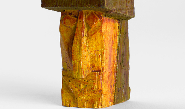 "Lyonel Feininger, ""Head"", 1925 - Polychrome wood - Photo © Centre Pompidou, MNAM-CCI, Dist. RMN-Grand Palais / Bertrand Prévost / A.D.A.G.P. 2016"