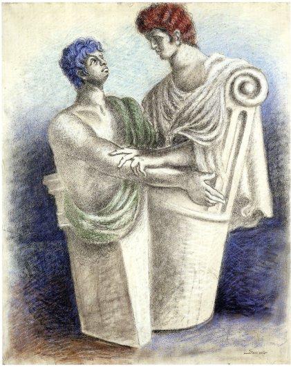 A. Savinio - Oreste e Pylade -  1930