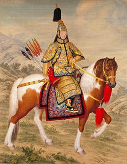 Equestrian portrait of the Emperor Qianlong in ceremonial armour