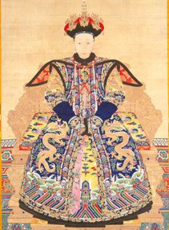 Portrait of the Empress Xiaoyichun in ceremonial dress