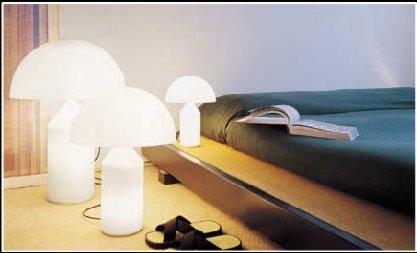 Lampada da tavolo a luce diretta e diffusa in vetro di Murano opalino