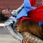 2nd prize singles - Gustavo Cuevas, Spain, EFE - Matador Julio Aparicio is wounded by the bull, Madrid, 21 May
