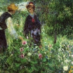 Pierre-Auguste Renoir: Picking Flowers, 1875 olio su tela, cm 54,3 x 65,2 Washington, National Gallery of Art
