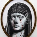 Francesco Vezzoli - Messalina, 2005 - Color laser print on canvas with mettalic embroidey in artist's frame - Courtesy Galleria Gio' Marconi