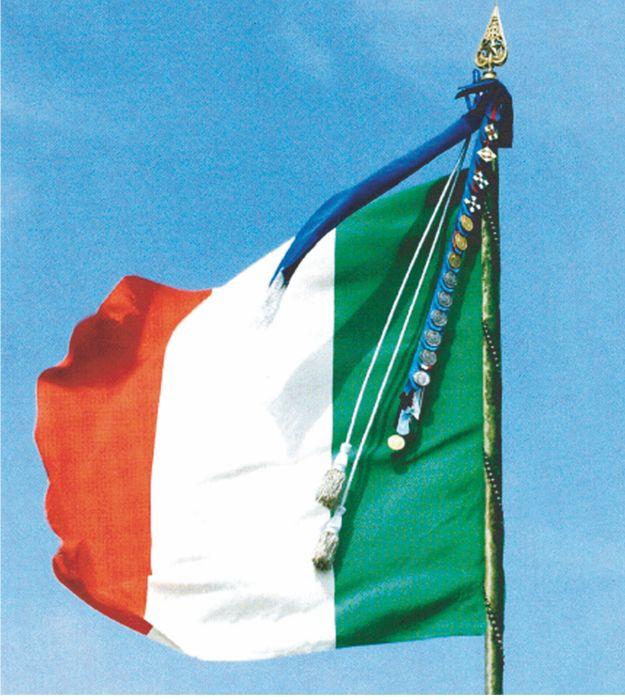 Tre colori per una patria storia della bandiera italiana for Bandiera di guerra italiana