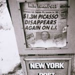 Andy Warhol. Newspaper Machine (New York Post), 1984. Gelatin silver print - 25.24 x 20.16 cm (9 15/16 x 7 15/16 in.). The Andy Warhol Museum, Pittsburgh; Contribution The Andy Warhol Foundation for the Visual Arts, Inc.<br> � 2011 The Andy Warhol Foundation for the Visual Arts, Inc. / Artists Rights Society (ARS), New York